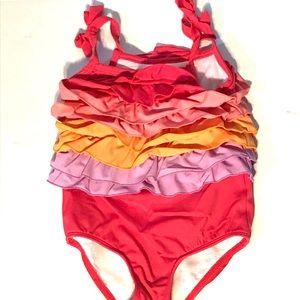 Gymboree Rainbow Ruffled Swimsuit size 2T